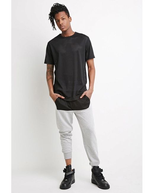 Forever 21 | Gray Mesh-paneled Sweatpants for Men | Lyst