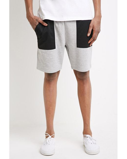 Forever 21 | Black Mesh-pocket Sweatshorts for Men | Lyst