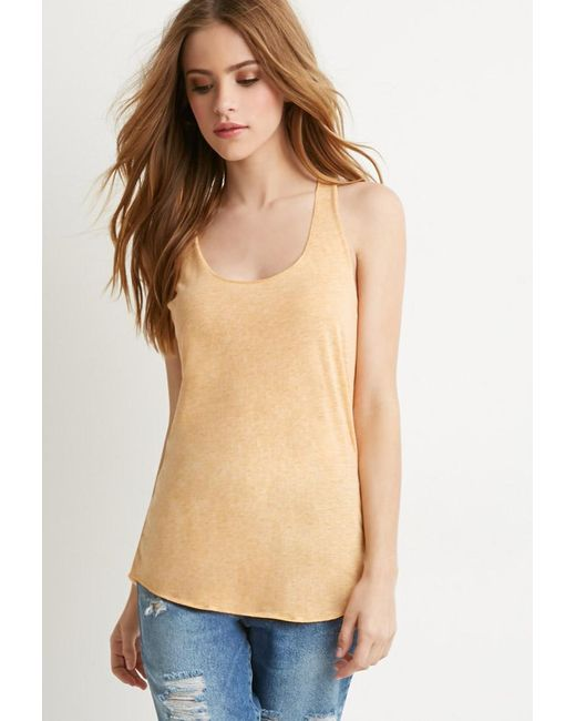 Forever 21 | Metallic Heathered Knit Tank | Lyst