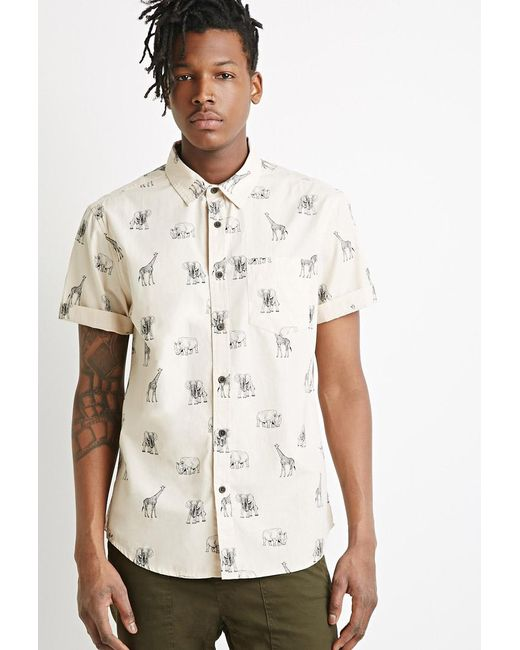 Forever 21 | Natural Safari Animal Print Shirt for Men | Lyst