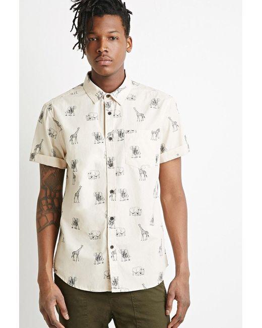 Forever 21   Natural Safari Animal Print Shirt for Men   Lyst