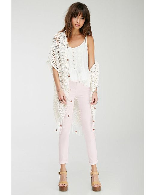Forever 21 | Pink Mid-rise Skinny Jeans | Lyst
