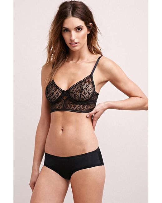 Forever 21 | Black Else Diamond-mesh Bralette | Lyst