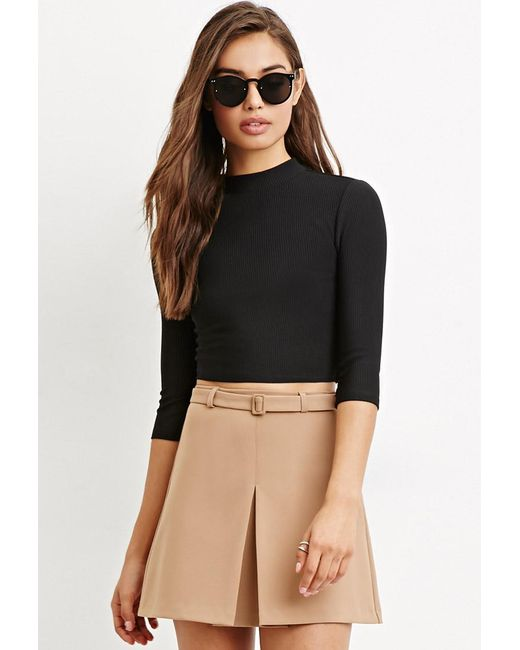 Forever 21 | Black Cutout-back Crop Top | Lyst