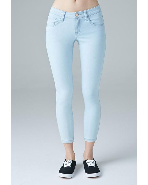 Forever 21 | Blue Beverly Low-rise Skinny Ankle Jeans | Lyst