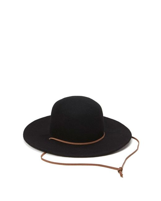 Forever 21   Black Wide-brim Wool Hat   Lyst