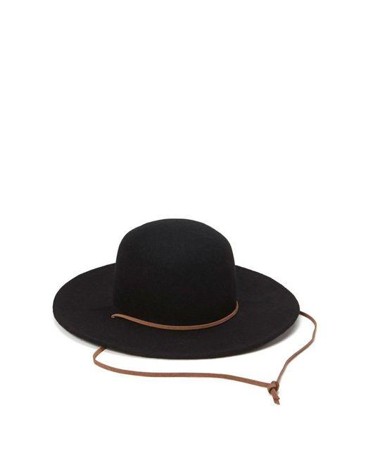 Forever 21 | Black Wide-brim Wool Hat | Lyst