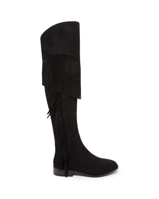 Forever 21 | Black Fringed Over-the-knee Boots | Lyst
