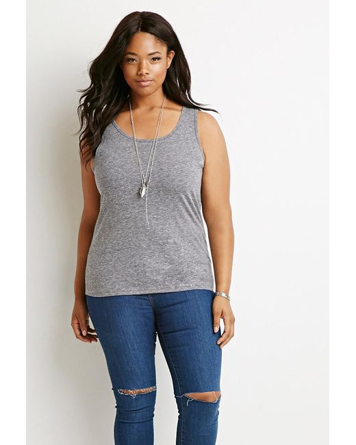 Forever 21 | Gray Classic Heathered Tank | Lyst