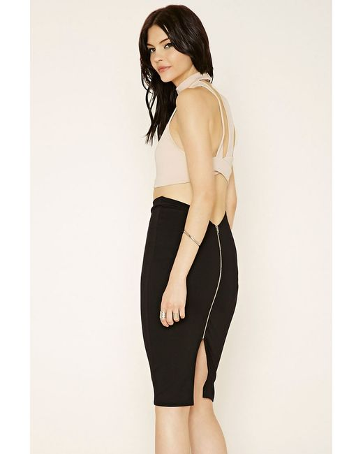 forever 21 zip back pencil skirt you ve been added to the