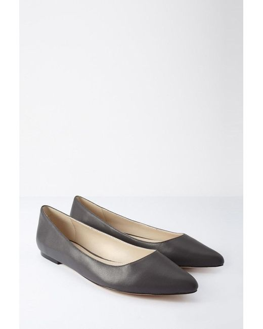 Forever 21 | Black Faux Leather Pointed Flats | Lyst