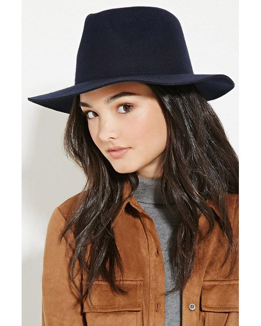 Forever 21 | Blue Wide-brim Wool Hat | Lyst