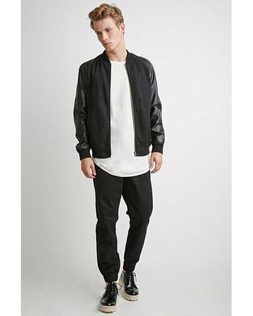 Forever 21   Black Zip-pocket Chino Joggers for Men   Lyst