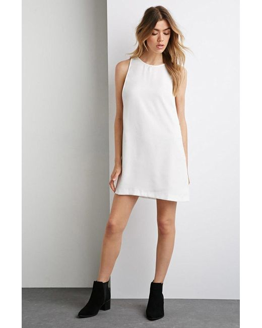 Forever 21 | White Side Zipper Shift Dress | Lyst