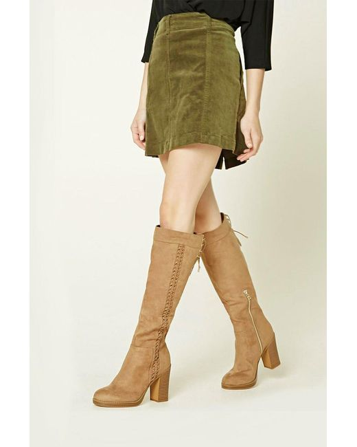 Forever 21   Brown Lace-up Faux Suede Boots   Lyst