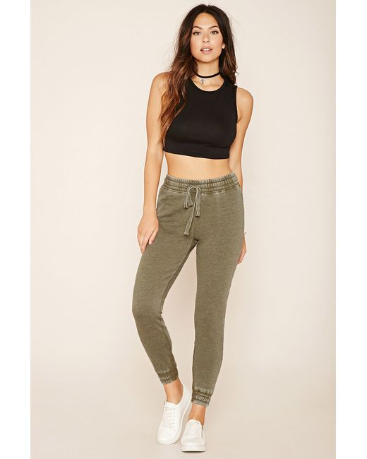 Forever 21 | Green Heathered Knit Sweatpants | Lyst