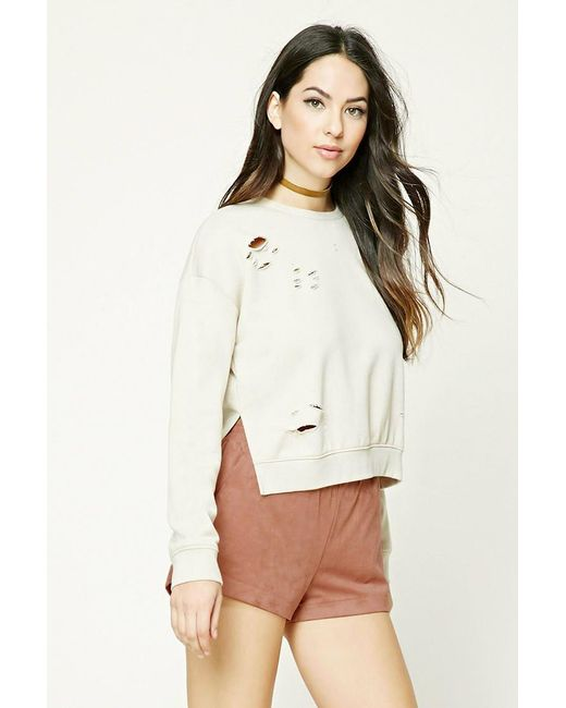 Forever 21   Natural Faux Suede Shorts   Lyst