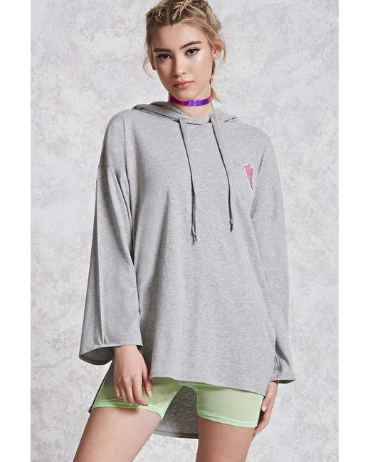 Forever 21 | Gray Heathered Sneaker Patch Top | Lyst