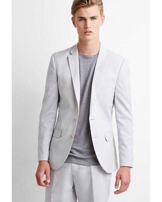 Forever 21 | Gray Two-button Blazer for Men | Lyst