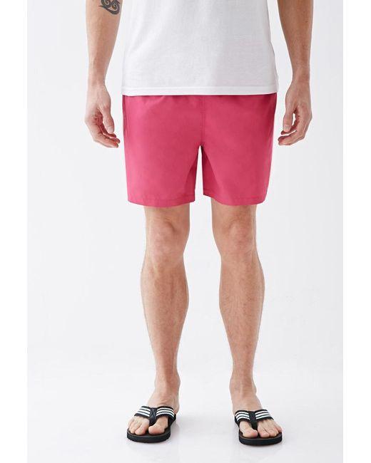 Forever 21   Pink Rope-drawstring Swim Trunks for Men   Lyst
