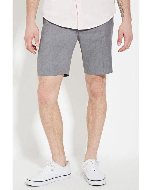 Forever 21 | Gray Textured Woven Shorts for Men | Lyst