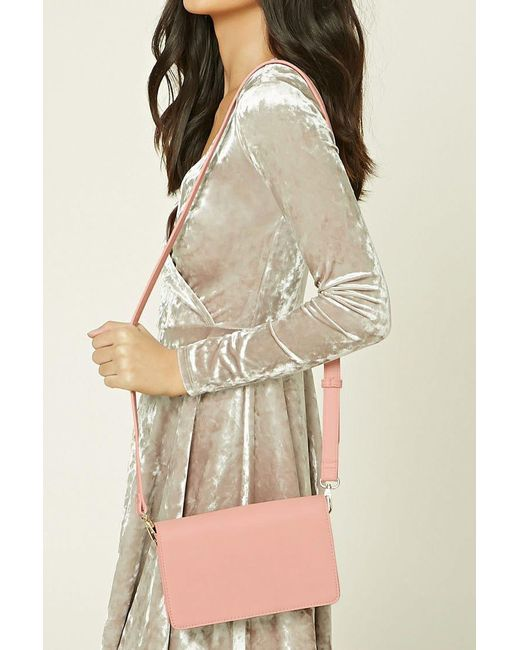 Forever 21 | Pink Faux Leather Crossbody | Lyst