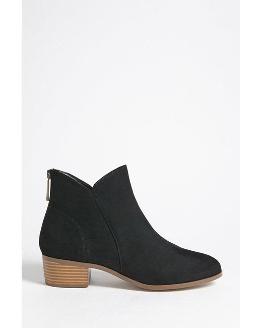 Forever 21 - Black Faux Suede Ankle Boots - Lyst