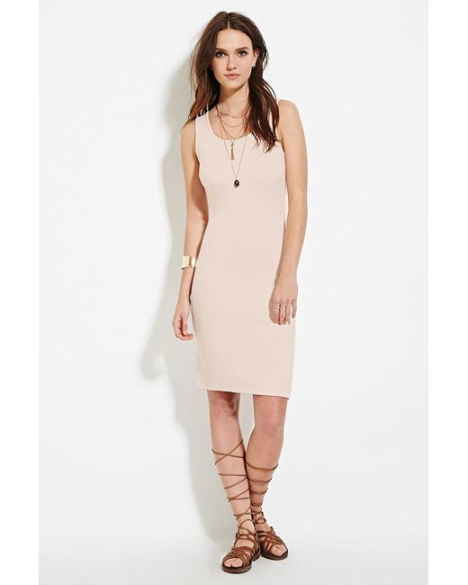 Forever 21 - Pink Ponte Knit Bodycon Dress - Lyst