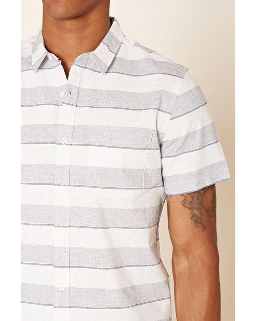 Forever 21 | Blue Stripe Marled Woven Shirt for Men | Lyst