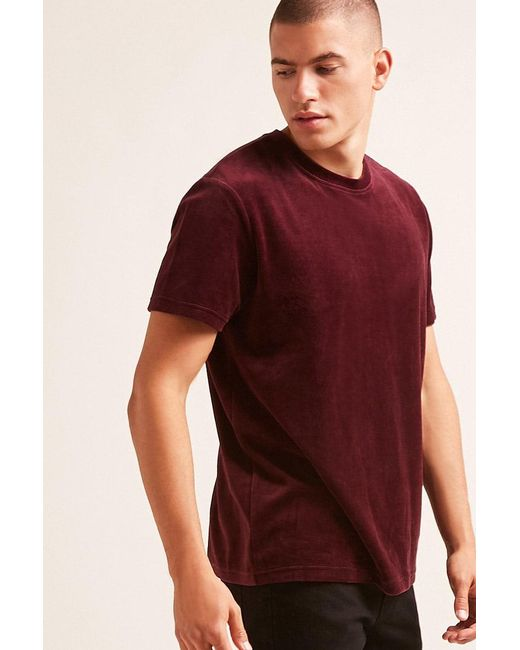 Forever 21 - Red Terry Cloth Tee for Men - Lyst