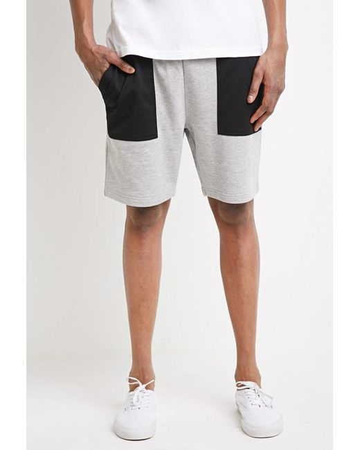 Forever 21 - Black Mesh-pocket Sweatshorts for Men - Lyst