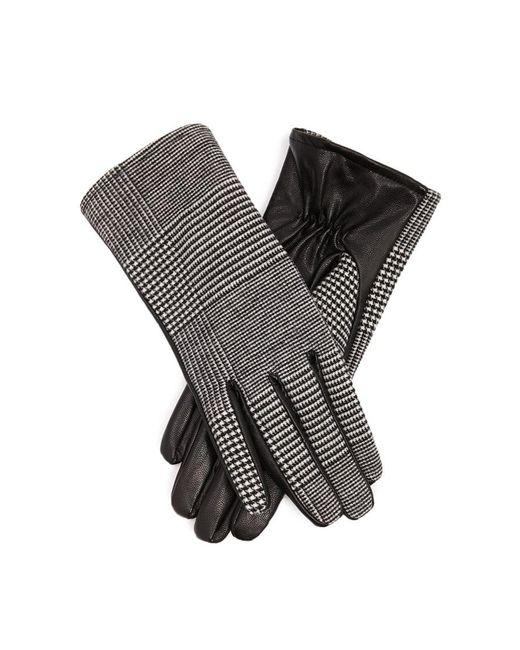 Forever 21 - Black Glen Plaid Faux Leather Gloves - Lyst