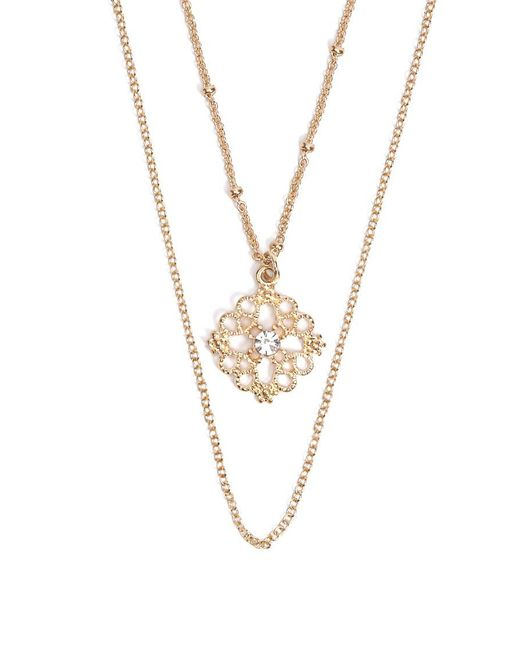 Forever 21 - Metallic Filigree Pendant Necklace Set - Lyst