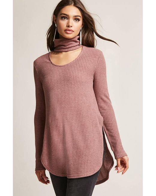 Lyst Forever 21 Cutout Honeycomb Knit Top Save 26