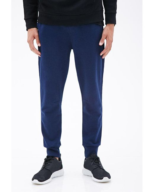 Forever 21 | Blue Heathered Drawstring Sweatpants for Men | Lyst