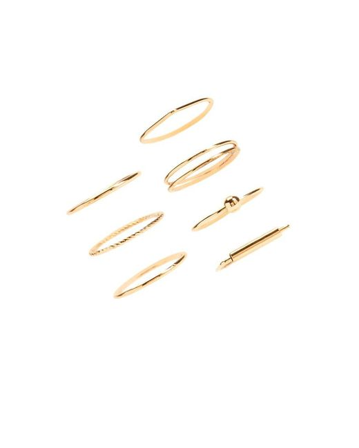 Forever 21 | Metallic Midi Stackable Ring Set | Lyst