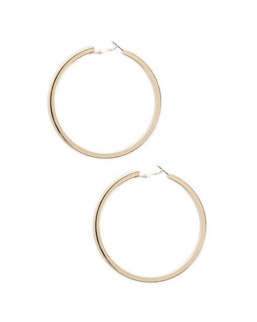 Forever 21 - Metallic Oversized Flat Hoop Earrings - Lyst