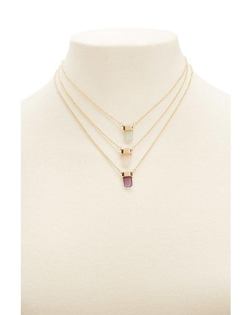 Forever 21 | Metallic Pendant Necklace Set | Lyst