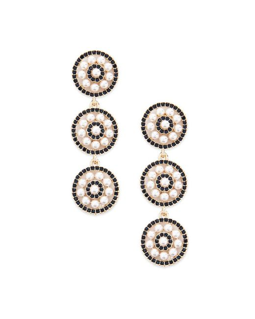 Forever 21 - Metallic Tiered Faux Pearl Earrings - Lyst