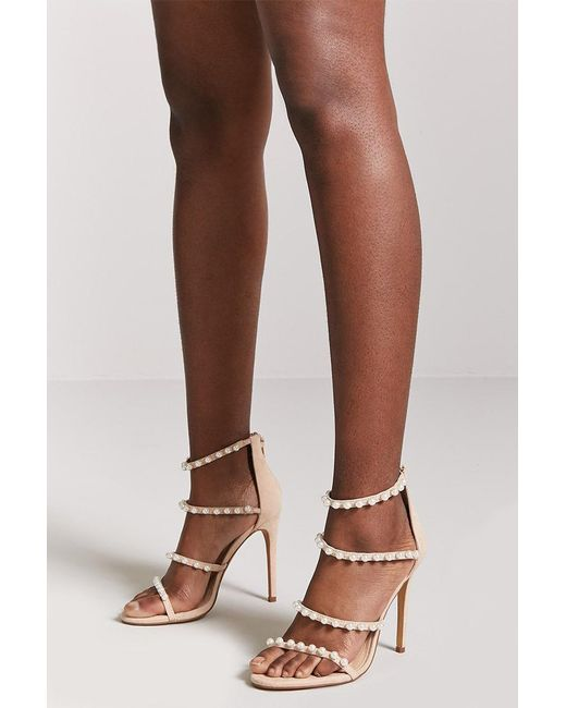 Forever 21 - Brown Faux Pearl Stiletto Heels - Lyst