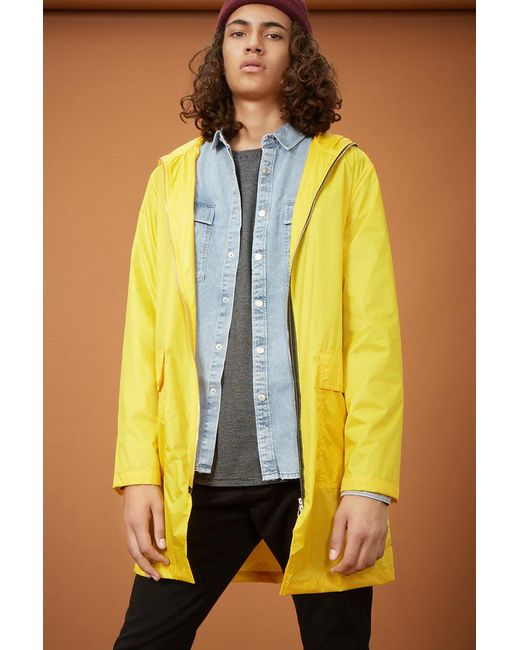 Forever 21 | Yellow Longline Two-way Zip Jacket for Men | Lyst
