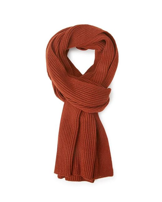 FOREVER21 - Brown Ribbed Knit Scarf - Lyst