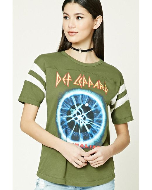 Forever 21 | Green Def Leppard Graphic Tee | Lyst