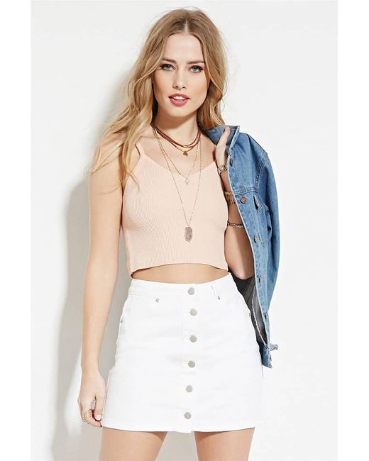 Forever 21 | Pink Cami Crop Top | Lyst