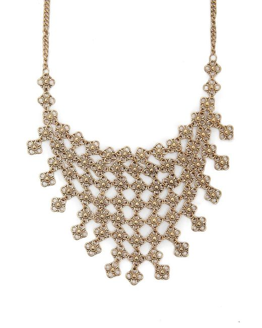 Forever 21 - Metallic Women's Statement Floral Bib Necklace - Lyst
