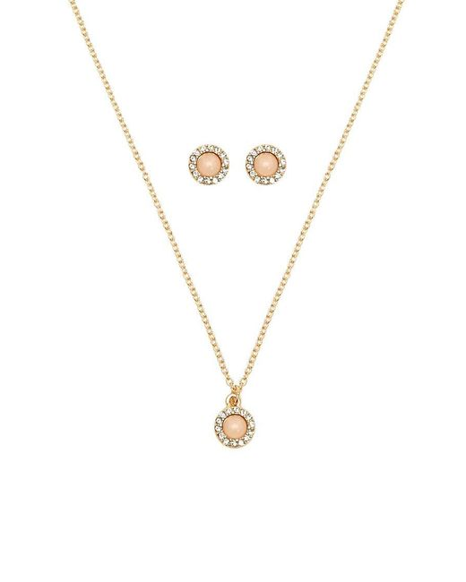 Forever 21 - Metallic Faux Stone Necklace & Earrings Set - Lyst