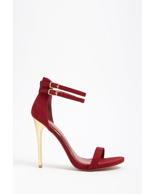 Forever 21 - Red Shoe Republic Faux Suede Stiletto Heels - Lyst