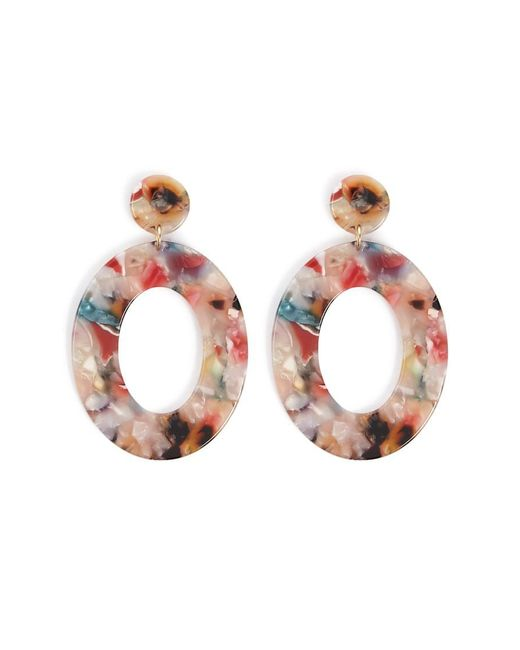 Forever 21 - Multicolor Marble Oval Drop Earrings - Lyst