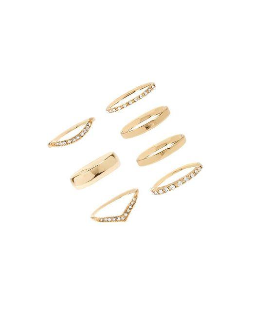 Forever 21 - Metallic Rhinestone Ring Set - Lyst
