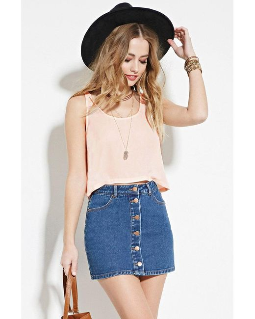 Forever 21 | White Boxy Woven Top | Lyst